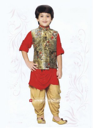 Cotton Fabric Boys Indo Western
