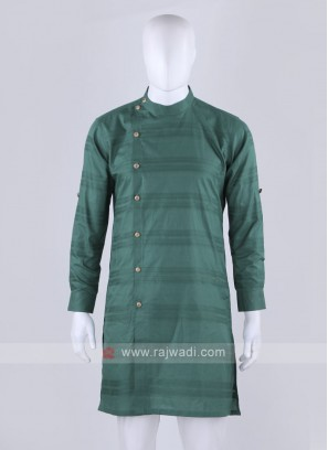 cotton fabric green kurta