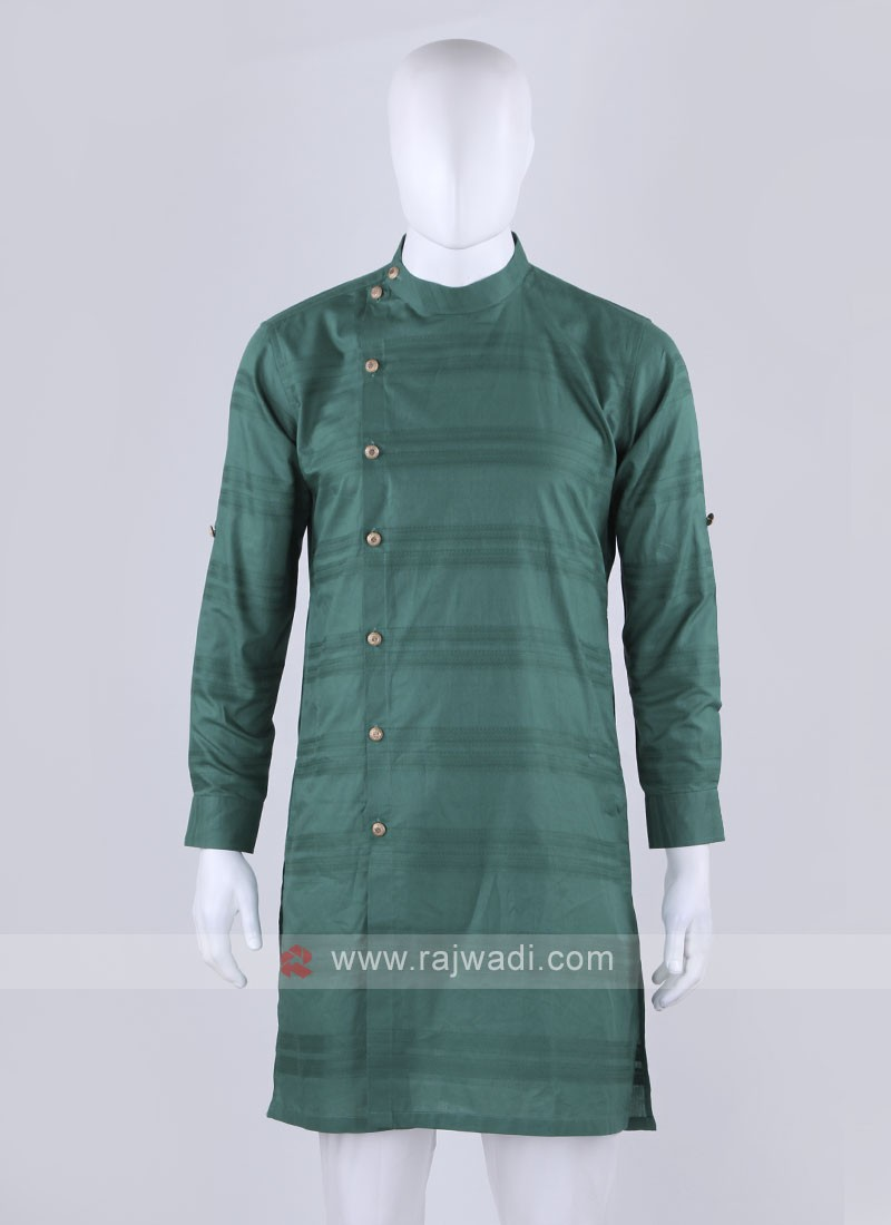 cotton fabric green kurta