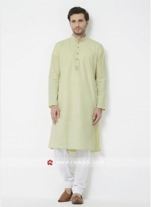 Cotton Fabric Kurta Pajama For Wedding