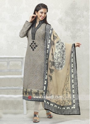 Black and skin color Salwar Suit