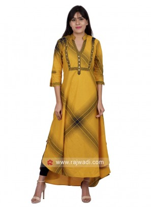 Cotton High Low Long Kurti