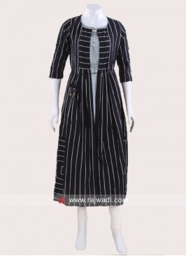 Cotton Indo Western Stripe Tunic