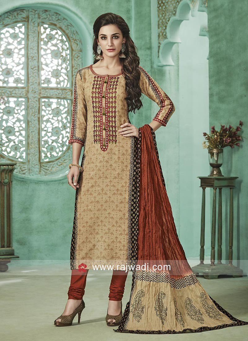 Cotton Jute Salwar Kameez