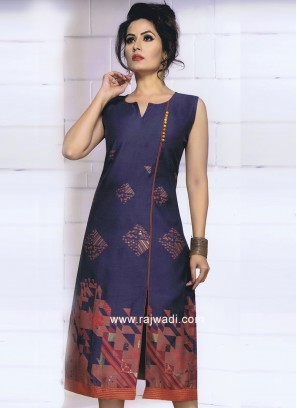 Cotton Knee Length Tunic with Print