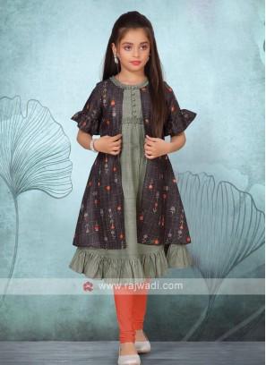 Cotton koti style kurti set