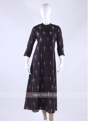 Cotton kurti in brown color