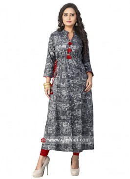 Cotton Kurti in Grey