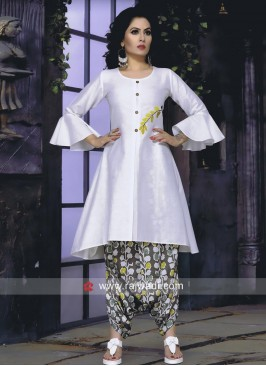 Cotton Kurti with Dhoti Bottom