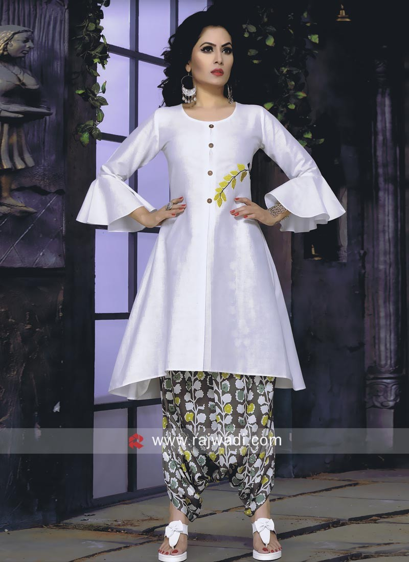 6b9bee3715 Cotton Kurti with Dhoti Bottom. Hover to zoom