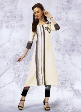 Cotton Layered Kurti with Buttons