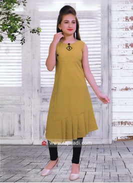 Cotton Lycra Layered Kurta with Leggings