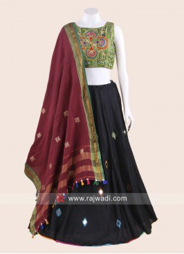 Cotton Navratri Chaniya Choli with Embroidery Work