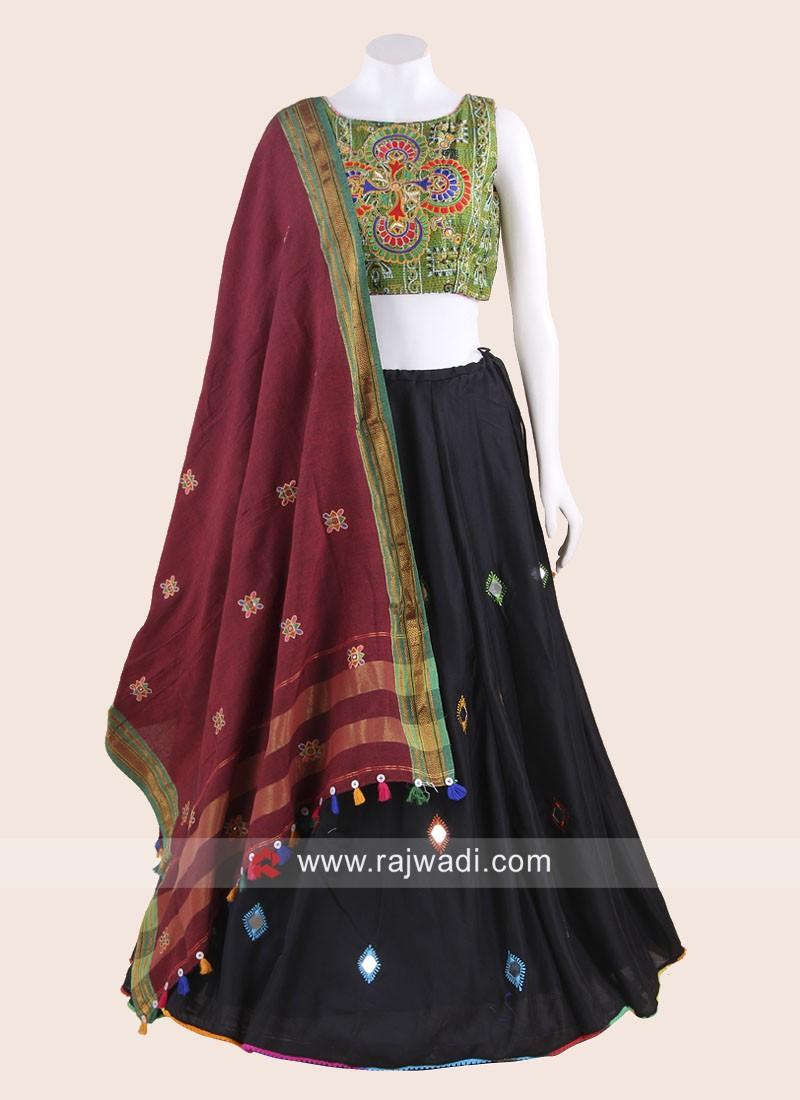 Cotton Navratri Chaniya Choli with Embroidery Work