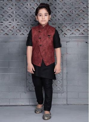 Cotton Nehru Jacket For Boys