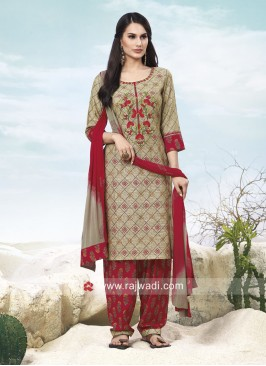 Cotton Panjabi Suit with Dupatta