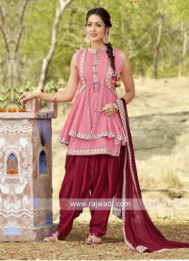 Cotton Patiala Suit with Koti
