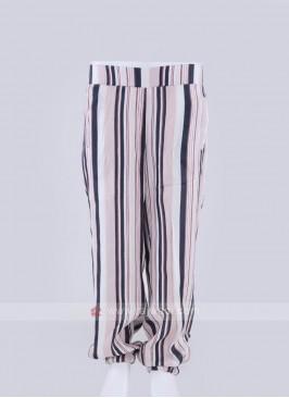 cotton pink striped palazzo