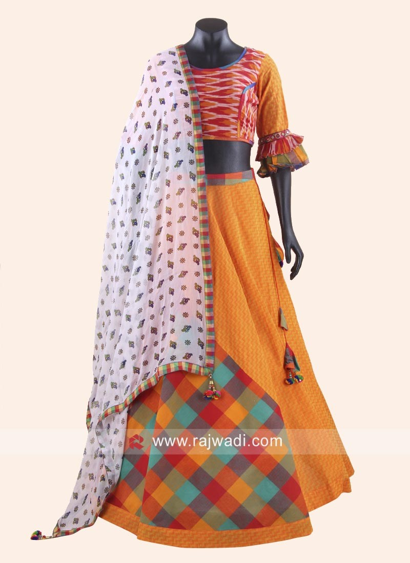 Cotton Printed Chaniya Choli with Dupatta