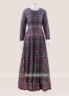 Cotton Printed Floor Length Gown