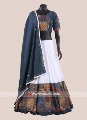 Cotton Printed Gujarati Chaniya Choli for Garba