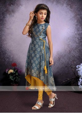 Cotton printed kurti set