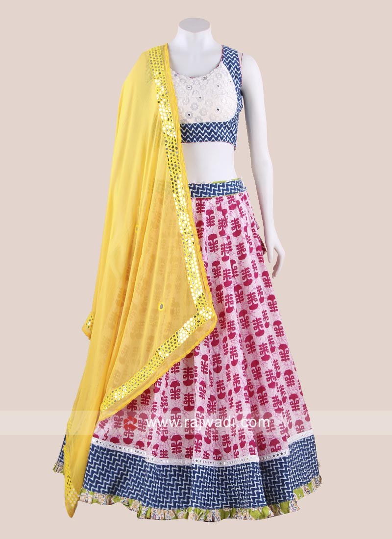 Cotton Printed Navratri Chaniya Choli