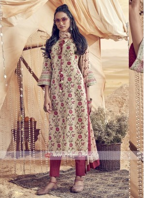 Shagufta Cotton Printed Pant Salwar Suit