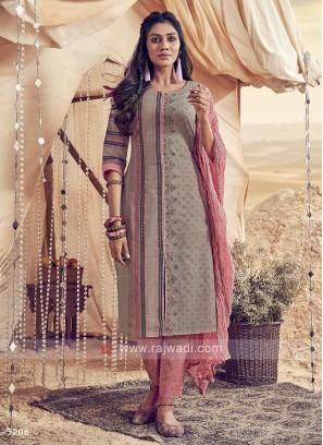 Shagufta Cotton Printed Pant Salwar Suit