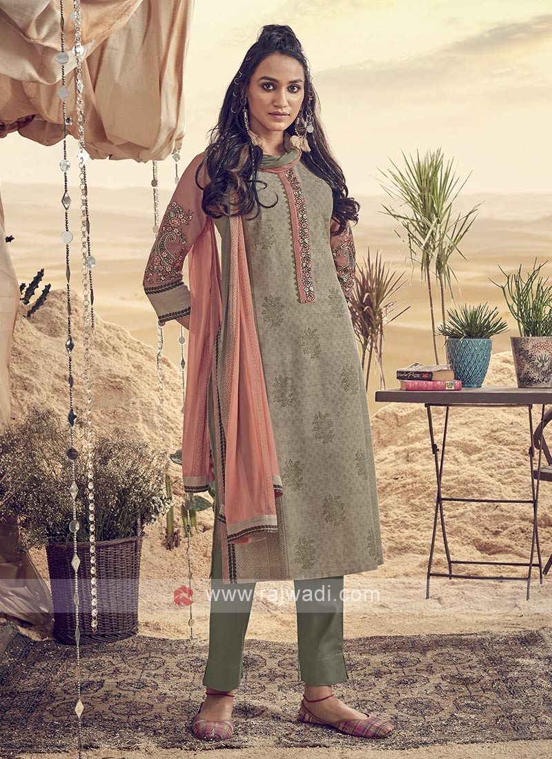 Cotton Printed Pant Style Suit