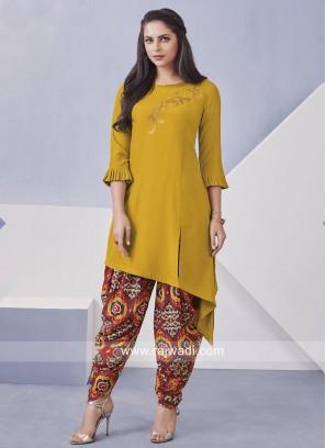 Cotton Rayon Dhoti Suit