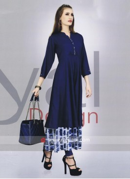 Cotton Rayon Double Layer Kurti
