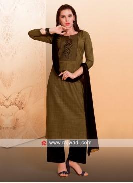 Cotton Rayon Fabric Palazzo Suit