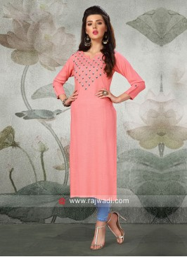 Cotton Rayon Straight Fit Kurti