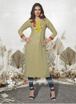 Cotton Rayon Straight Kurti