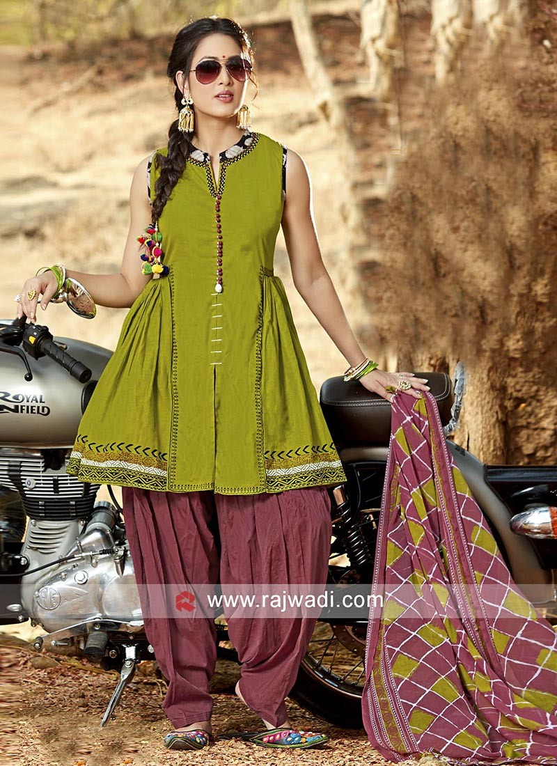 Cotton Readymade Patiala Suit