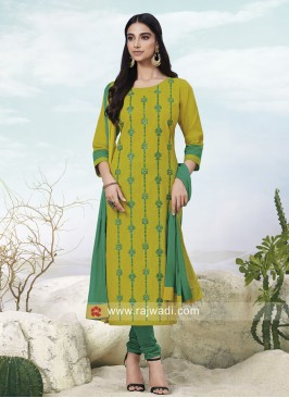 Cotton Resham Work Suit
