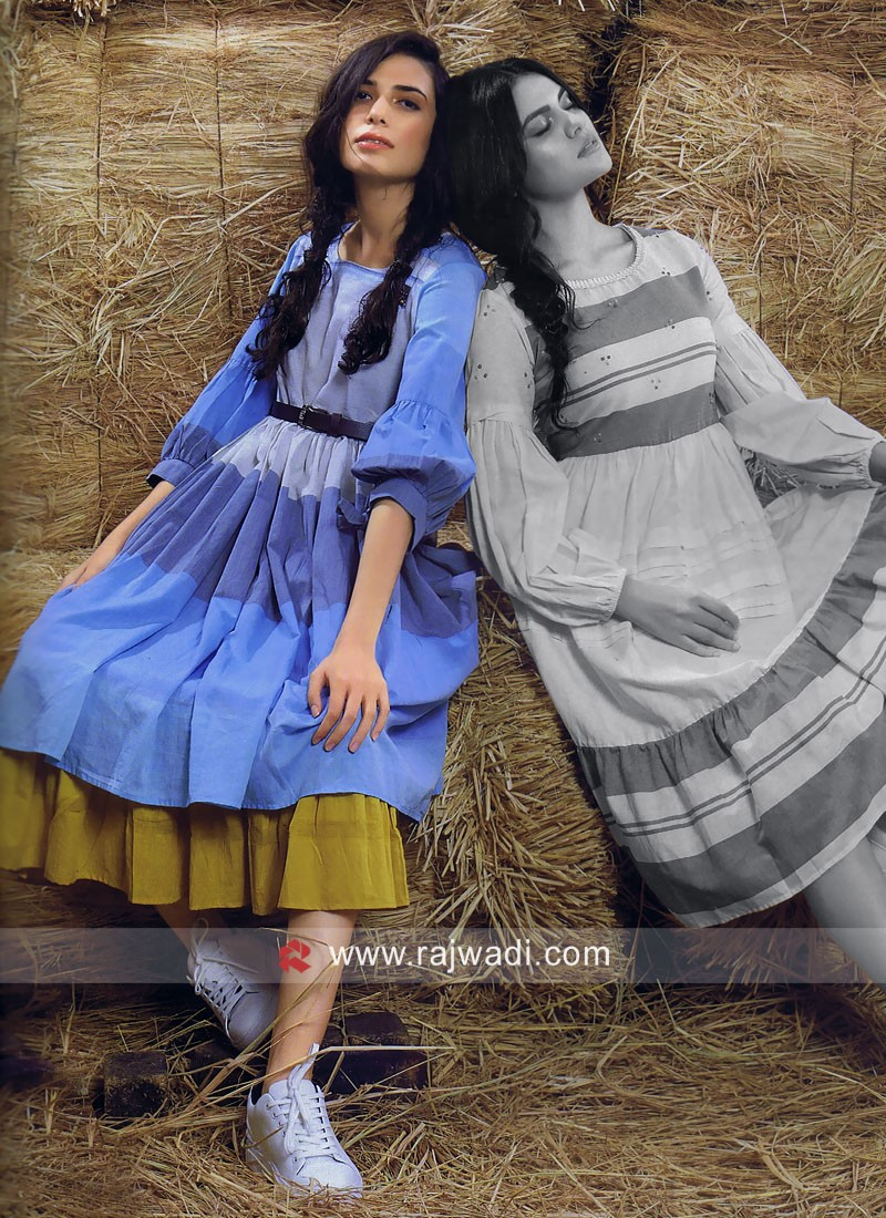 Cotton Semi Anarkali Tunic
