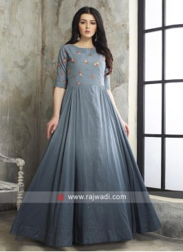 Cotton Shaded Party Wear Anarkali Suit