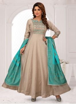Cotton Silk Anarkali Salwar Suit