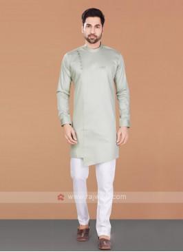 Cotton Silk Beige Kurta