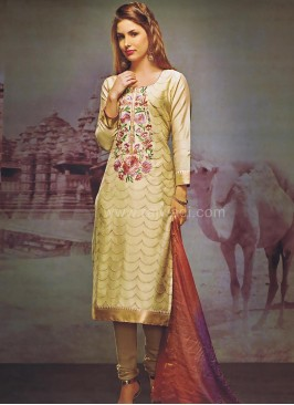 Cotton Silk Casual Churidar Suit