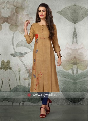 Cotton Silk Casual Kurti