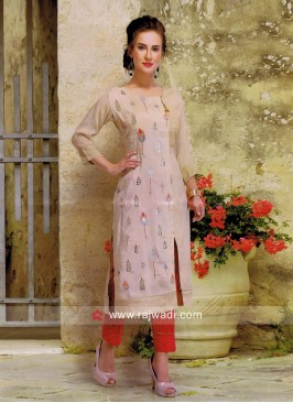 Cotton Silk Casula Kurti with Pant