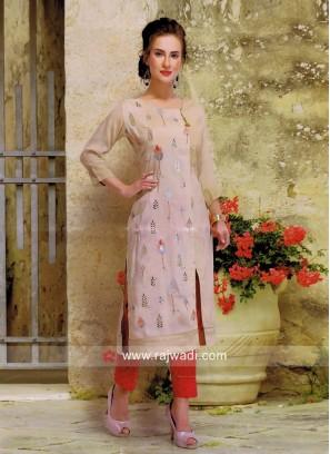 Cotton Silk Casula Kurti with Pant