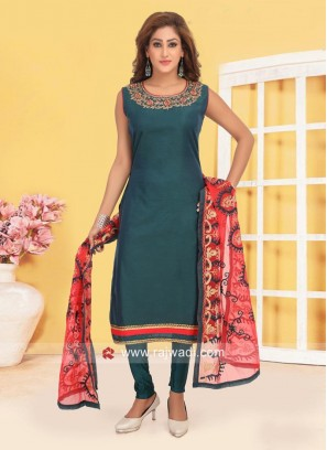Cotton Silk Churidar Suit