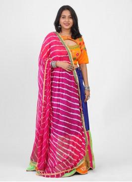Cotton Silk Colourful Navratri Lehenga Choli