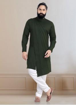 Cotton Silk Cut Style Kurta Pajama