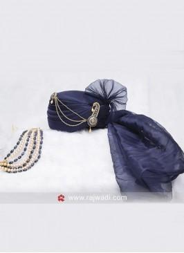 Cotton Silk Dark Blue Safa