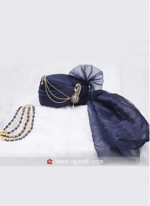 Cotton Silk Dark Blue Safa